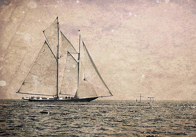 Photograph - Two Mast Vessel And A Little Boat 2 by Pedro Cardona