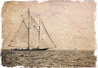Photograph - Two Mast Vessel And A Little Boat 3 by Pedro Cardona