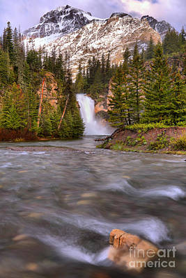 Photograph - Two Medicine Creek And Falls by Adam Jewell