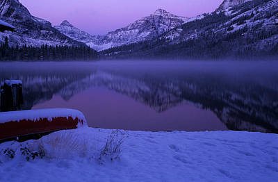 Photograph - Two Medicine Lake At Dawn by Peter Skiba