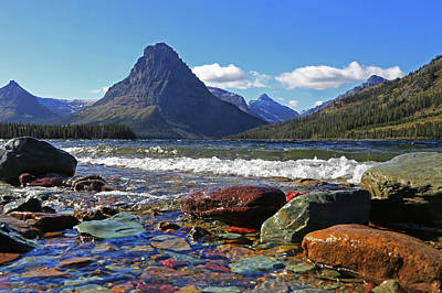 Wall Art - Photograph - Two Medicine Lake by Diana Marcoux