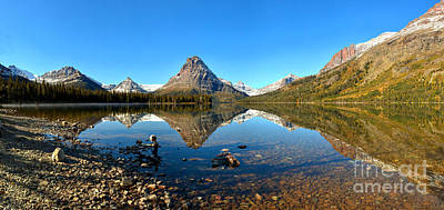 Photograph - Two Medicine Lake Panorama by Adam Jewell