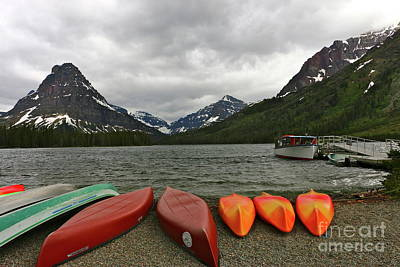 Photograph - Two Medicine Lake With Sinopah Mountain by Christiane Schulze Art And Photography
