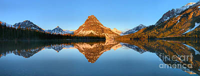 Photograph - Two Medicine Sunrise Panorama Glow by Adam Jewell