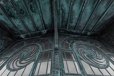 Photograph - Two Medusa Windows Carousel House Asbury Park New Jersey by Terry DeLuco
