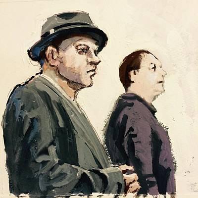 Two Men Art Print