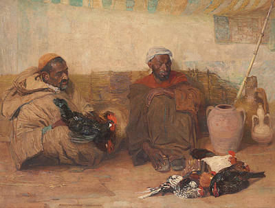 Orientalist Painting - Two Men Of Tangiers, 1908  by Robert Lee MacCameron