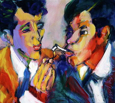 Painting - Two Men On A Match by Les Leffingwell