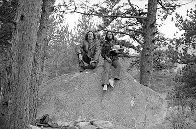 Photograph - Two Men On A Boulder In The American West, 1972 by Jeremy Butler