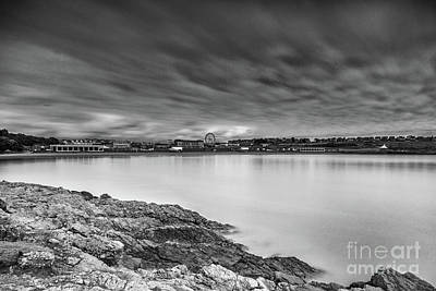 Photograph - Two Minutes At Barry Island Monochrome by Steve Purnell