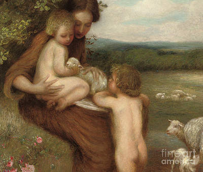 Two Mothers  Art Print by William Edward Stott