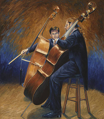 Painting - Two Musicians by Lucie Bilodeau