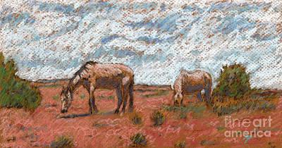 Two Mustangs Art Print by Suzie Majikol Maier