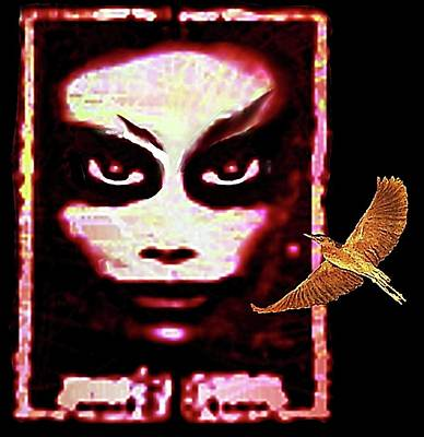Digital Art - Two  Nightbirds by Hartmut Jager