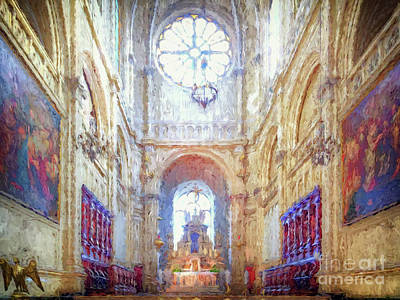 Digital Art - Two Nights In Brussels 14 - Eglise Sainte Catherine by Leigh Kemp