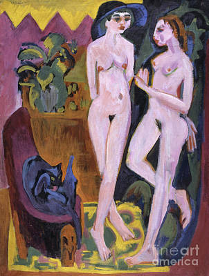 Two Nudes In A Room, 1914 Art Print