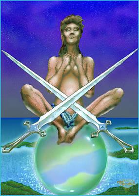 Two Of Swords Art Print by Greg Piszko