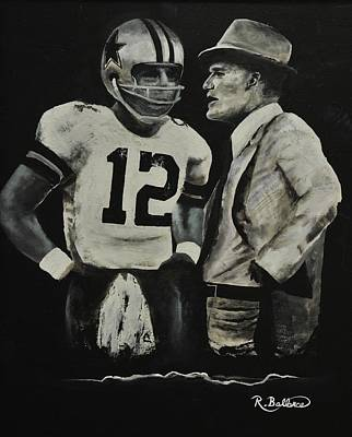 Laundry Painting - Two Of The Greastest Minds In Pro-football by Robert Ballance