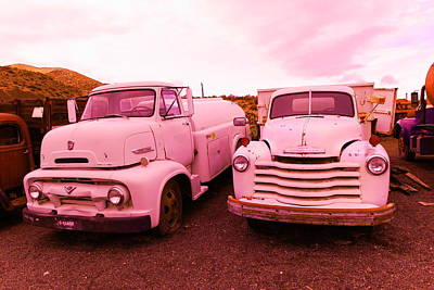 Old Trucks Photograph - Two Old Beauties  by Jeff Swan