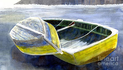 Two Old Boats On The Beach Art Print by Sharon Freeman