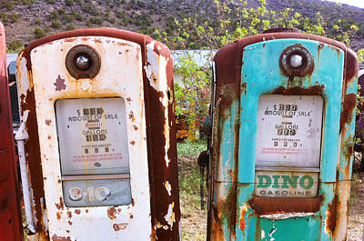 Two Old Gas Pumps Art Print by Matt Suess