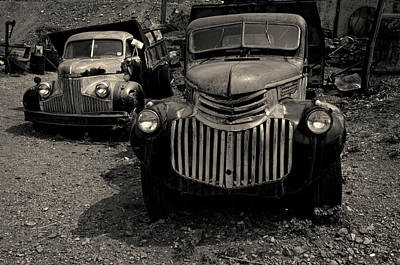 Photograph - Two Old Trucks Toned by David Gordon