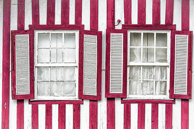 Two Old Windows Art Print
