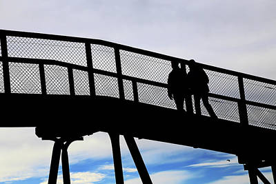 Photograph - Two On A Bridge by Nareeta Martin