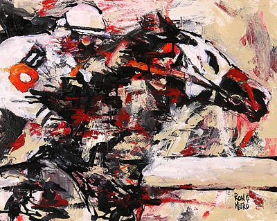Horse Racing Painting - Two On The Eleven by Ron and Metro