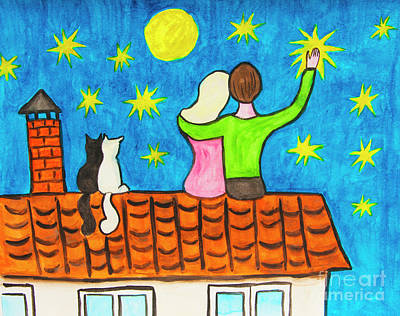 Painting - Two On The Roof by Irina Afonskaya