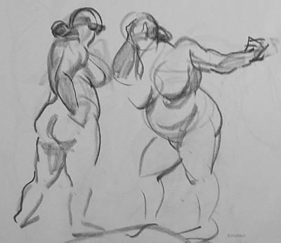 Drawing - Two One-minute Poses by Robert Holden