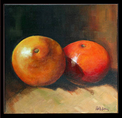 Painting - Two Oranges by Pepe Romero