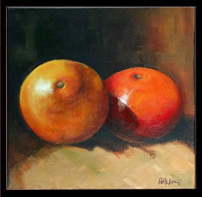 Two Oranges Art Print by Pepe Romero