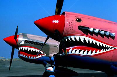 Two P-40 Tigers Teeth Art Print