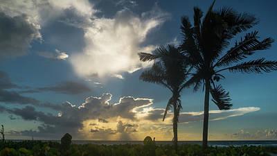 Photograph - Two Palm Sunrise Delray Beach Florida by Lawrence S Richardson Jr