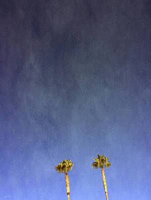 Two Palm Trees- Art By Linda Woods Art Print by Linda Woods