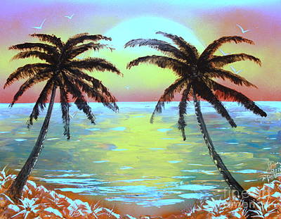 Painting - Two Palms - E by Greg Moores