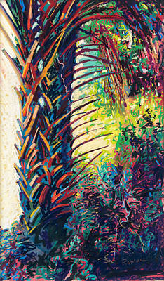 Pastel - Two Palms by David Randall