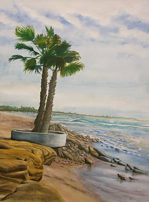 Painting - Two Palms by Teresa Beyer