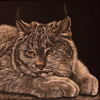 Painting - Two Paws Down by Margaret Sarah Pardy