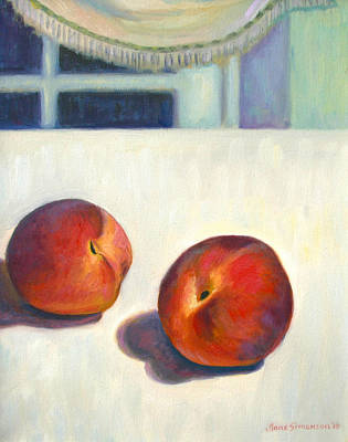 Two Peaches At Night Original by Jane  Simonson