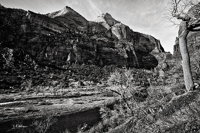 Photograph - Two Peaks - Bw by Christopher Holmes