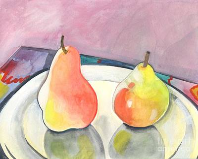 Painting - Two Pears by Helena Tiainen