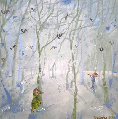 Tina Turner Painting - Two People by Alexandra Krasuska