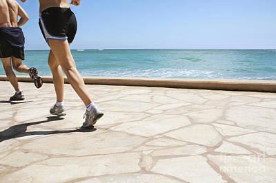 Two People Jogging Art Print