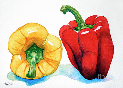Painting - Two Peppers by Rebecca Davis