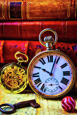 Photograph - Two Pocket Watches by Garry Gay