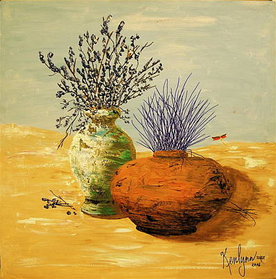 Route 66 - Two Pots in the Desert by Kenlynn Schroeder