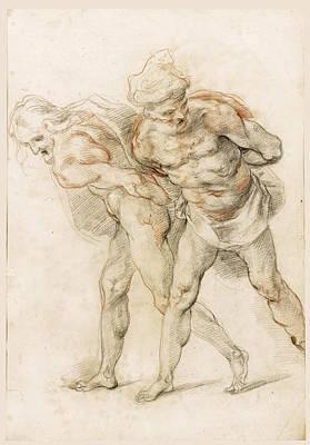 Drawing - Two Prisoners by Cherubino Alberti