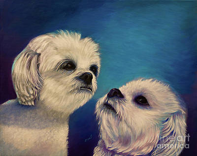 Two Puppies Art Print